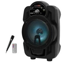 Caixa Karaoke Satellite AS-6061 200 watts RMS Bluetooth USB Auxiliar Bivolt - Preta - Megastar