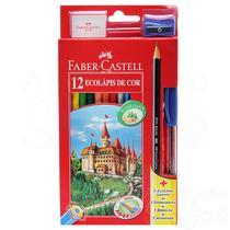 Caixa Lápis De Cor 12 Cores Faber Castell Original -
