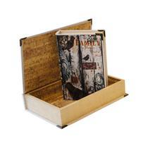 Caixa Livro com 2 Peças de Seda Home  Family - Goods br