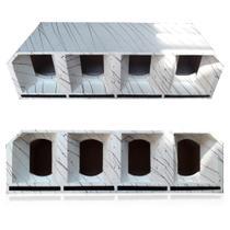 Caixa Medio Grave 4 de 10 Pol. Cornetada Branca Euclides - Aude Box