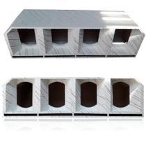 Caixa Medio Grave 4 De 8 Polegadas Cornetada Branca Euclides - Aquiles