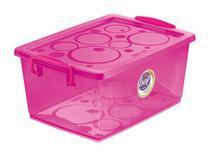 Caixa Organizadora Com Trava 30 L Pink Ordene -