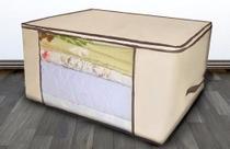 Caixa organizadora de guarda roupa organizador de cobertor, edredon, toalhas e lencol - Represent