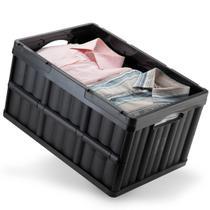 Caixa Organizadora Desmontável Dobrável Multiuso Preta 52l - Arthi
