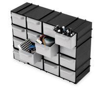 Caixa Organizadora Gaveteiro Multiuso Com 16 Gavetas Para Parafuso Objetos De Costura Arqplast 7001 -