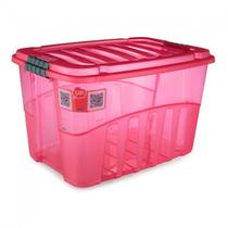 Caixa organizadora Gran Box alta vermelha 9069 56L Plasútil - Plasutil