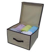 Caixa organizadora guarda roupa empilhavel dobravel organização de edredom lençol e toalha multiuso - Kangur