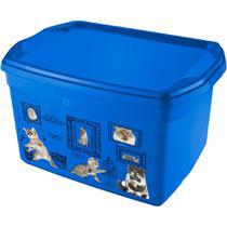 Caixa Organizadora M Gatos Sanremo Azul -