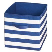 Caixa Organizadora Multiuso c/ Alças Azul e Branco - Hudson imports