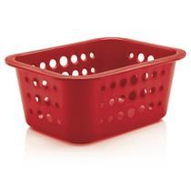 Caixa Organizadora Ou P Vermelha - Ou-martiplast