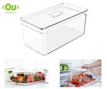 Caixa Organizadora para Geladeira 5L Acrílico Legumes Frutas Verduras - Ou