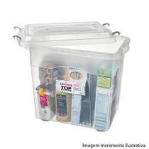 Caixa organizadora plastico alto 26,5l 400x270x362mm top stock r.965 - sanremo -