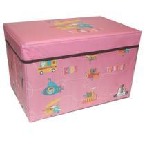 Caixa Organizadora Rígida Infantil para brinquedos Pufe CA20004 - Casita