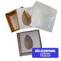 Caixa Ovo de Colher Crystal 100/150g Ouro -