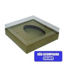 Caixa Ovo de Colher Crystal 250g Ouro -
