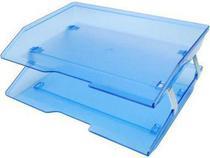 Caixa para correspondencia Acrimet 253 2 dupla facility lateral azul clear -