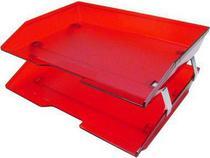 Caixa para correspondencia Acrimet 253 7 dupla facility lateral vermelho clear -
