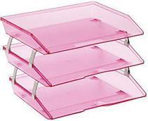 Caixa para correspondencia Acrimet 255 8 tripla faciliti lateral rose clear -