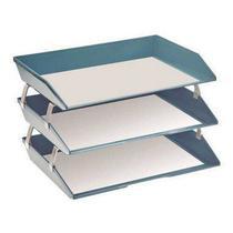 Caixa para correspondencia Acrimet 255 AO tripla faciliti lateral azul solido -