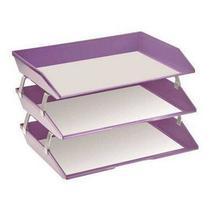 Caixa para correspondencia Acrimet 255 LO tripla faciliti lateral lilas -