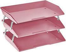 Caixa para correspondencia Acrimet 255.RO tripla faciliti lateral rosa solido -