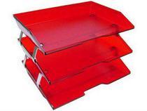 Caixa para correspondencia Acrimet 25577 tripla faciliti lateral vermelho clear -