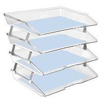 Caixa para correspondencia Acrimet 256.3 quadrupla quatro andares facility lateral  cristal -