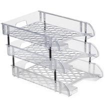 Caixa para correspondencia tripla acrilico cristal 031 / un / waleu -