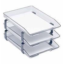 Caixa para correspondencia tripla acrilico cristal 945 / un / acrimet -