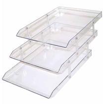 Caixa para correspondencia tripla acrilico cristal / un / menno -
