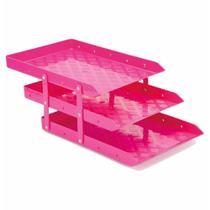 Caixa para correspondencia tripla acrilico movel rosa / un / waleu -
