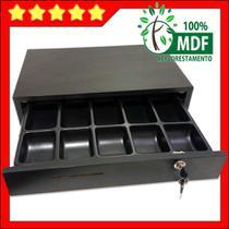 caixa para dinheiro em MDF preto tipo gaveta - Balcões.Tk