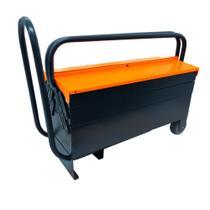 Caixa para ferramentas sanfonada 5 gavetas com puxador retrátil e rodas - Presto -