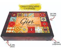 Caixa para kit gin tônica e especiarias mdf - Girassol