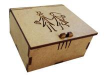 Caixa para lembrancinha Casamento 7x7x3 cm - Mdf