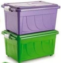 Caixa Plastica Organizadora 60 Litros Colorida - Agraplast -