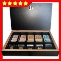 caixa porta dinheiro notas moedas estojo - Balcões.Tk