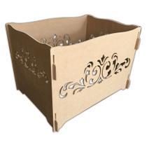 Caixa Porta Presentes Arabesco Em Mdf Provençal Para Decoração Festas - Jjveras