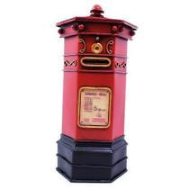 Caixa Postal Inglês Cofre 27cm Estilo Retrô - Vintage - Taimes