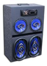 Caixa Radio Bluetooth Usb Ativa Residencial Falante 6 E 6x9 - Oestesom