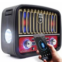 Caixa Rádio Retrô Vintage Bluetooth Fm Am Sw Portátil Bege - Xtrad