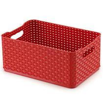 Caixa Rattan 1,74l Vermelha Arthi -