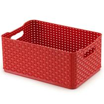 Caixa Rattan 4,5l Vermelha Arthi -