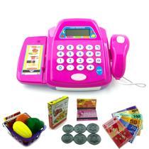 Caixa Registradora Acessórios Dinheiro Mercadinho Infantil - Wellmix