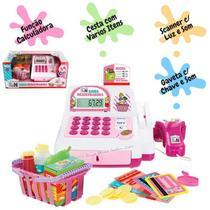 Caixa Registradora Brinquedo Infantil c/ Luz Sons e Vários Acessórios - Multikids