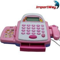 Caixa Registradora Brinquedo Mercadinho com Luz Som BW042RS - Importway