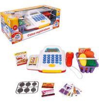 Caixa Registradora Colors com Som e Luz com Acessorios Mini Mercado a Pilha na Caixa Wellkids - Wellmix