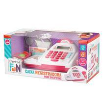 Caixa Registradora Creative Fun Mini Shopping Rosa Multikids - Multilaser