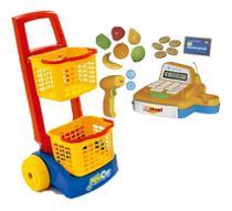 Caixa Registradora De Brinquedo Infantil+ Carrinho De Compra - Usual Brinquedos