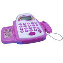 Caixa Registradora Infantil Brinquedo Calculadora Mercadinho com Luz e Som Importway BW042RS Rosa -